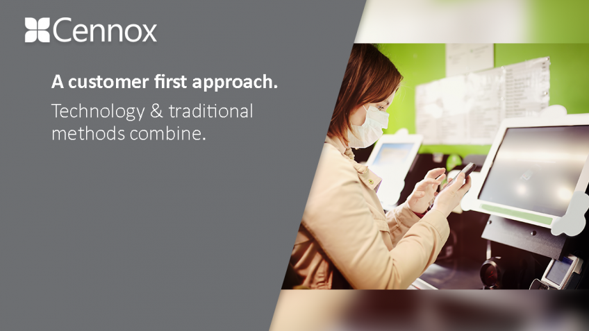 A picture of A customer first approach. Technology & traditional methods combine.