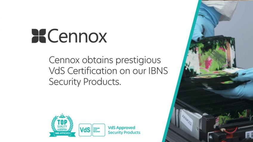 A picture of Cennox obtains prestigious VdS Certification.