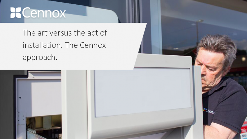 Ein Bild von The art versus the act of installation. The Cennox Approach