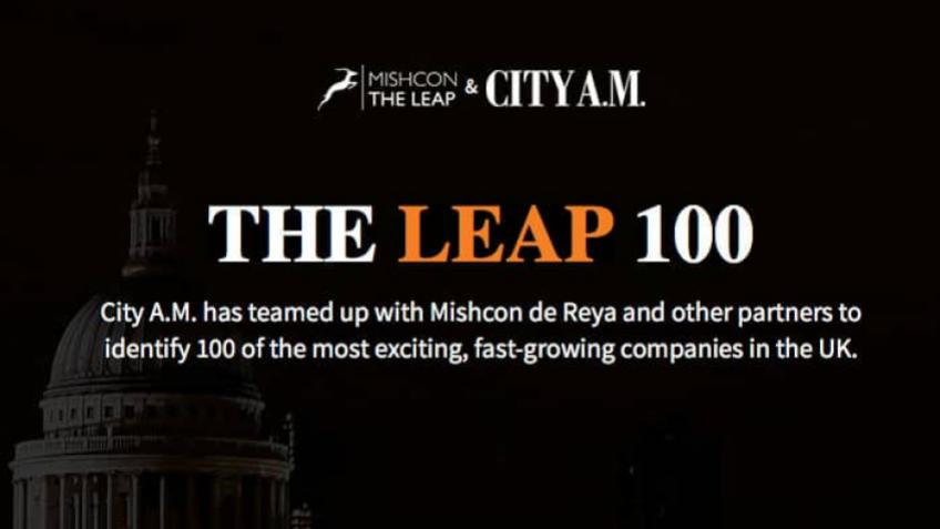 A picture of The CITYA.M. Leap List recognises Cennox in their top 100 UK businesses