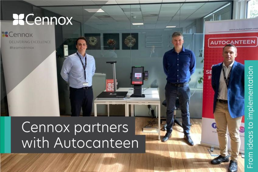 A picture of Cennox partners with Autocanteen, an AI-powered self-checkout solution for catering