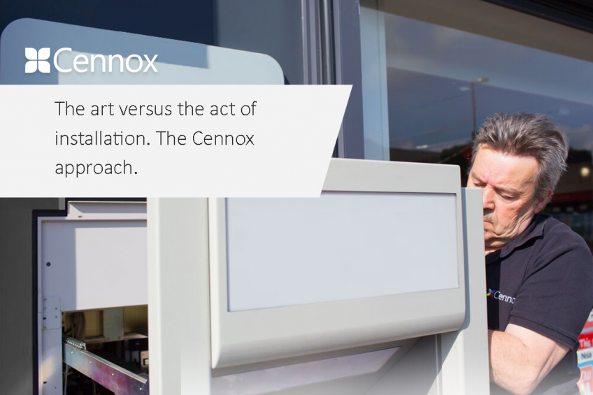 A picture of The art versus the act of installation. The Cennox Approach